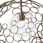Hanging Lamp 55X55X55 Glass Metal Golden