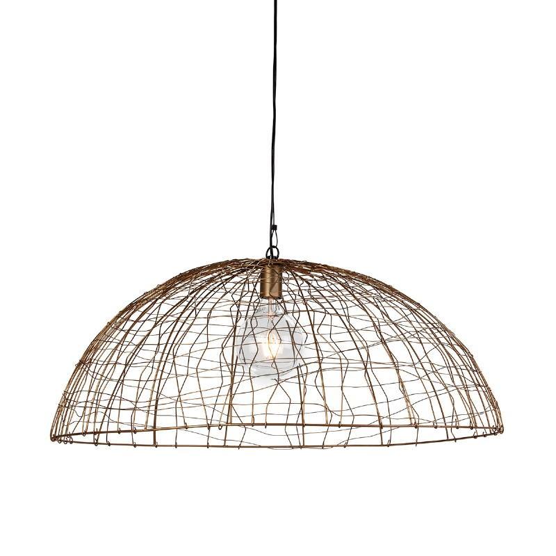 Lampe suspendue 80x80x32 Fil de fer Doré - image 52622