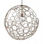 Hanging Lamp 80X80X80 Glass Metal Golden