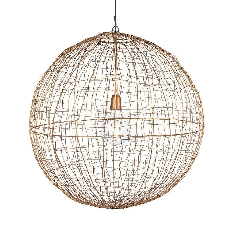 Lampe suspendue 70x70x70 Fil de fer Doré