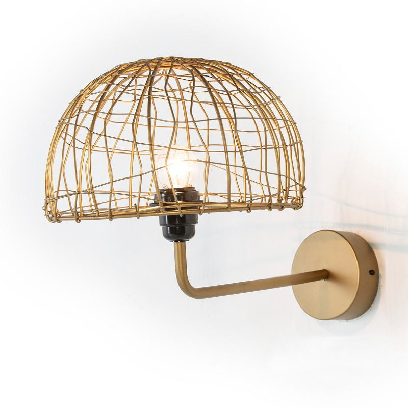 Wall Lamp 23X37X25 Wire Metal Golden