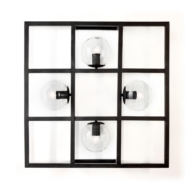 Wall Lamp 72X13X72 Metal Black