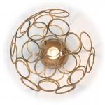 Wall Lamp 30X33X30 Glass Metal Golden
