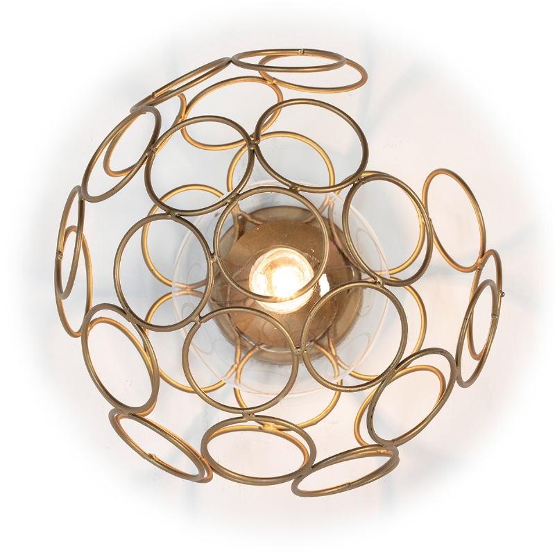 Wall Lamp 30X33X30 Glass Metal Golden - image 52637