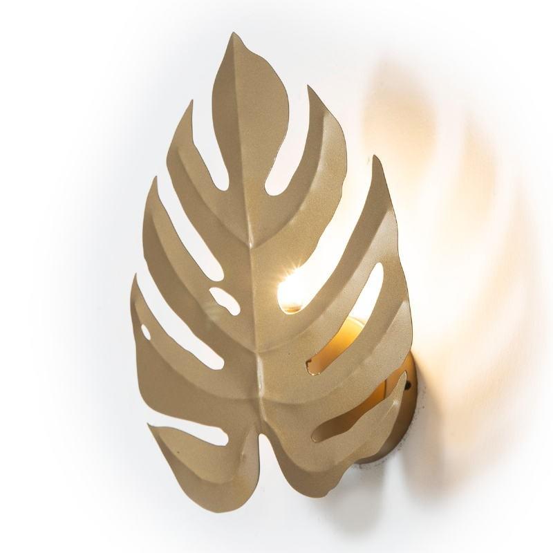 Wandlampen 27X12X35 Metall Golden - image 52640