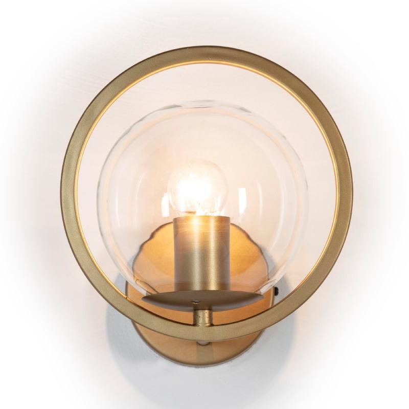 Wall Lamp 21X23X22 Glass Metal Golden