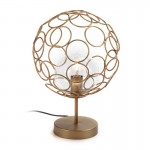Table Lamp 30X30X45 Glass Metal Golden