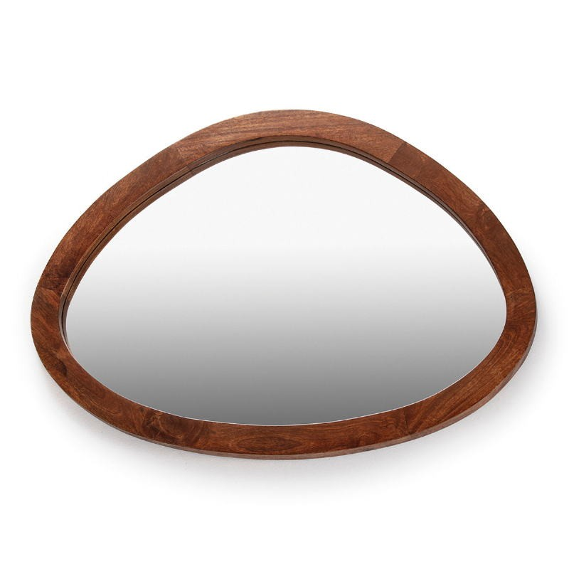 Mirror 106X4X76 Glass Wood Brown
