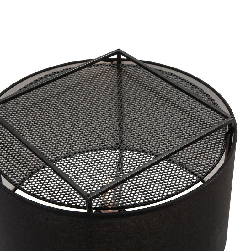 Lampadaire avec abat-jour 55x55x165 Métal Noir - image 52740