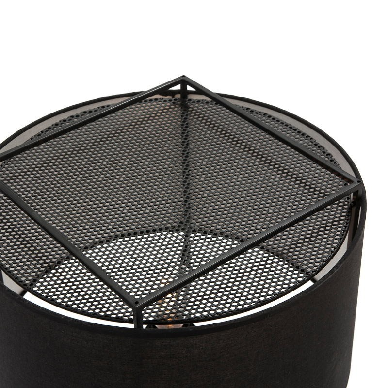 Standard Lamp With Lampshade 55X55X165 Metal Black - image 52740