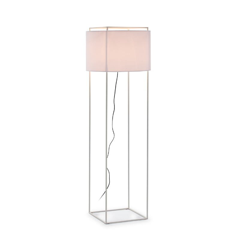Standard Lamp With Lampshade 55X55X165 Metal White