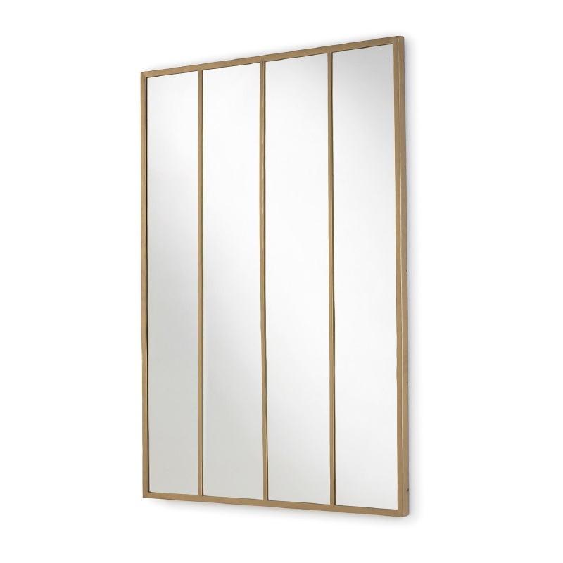 Espejo 100X3X150 Cristal Metal Dorado