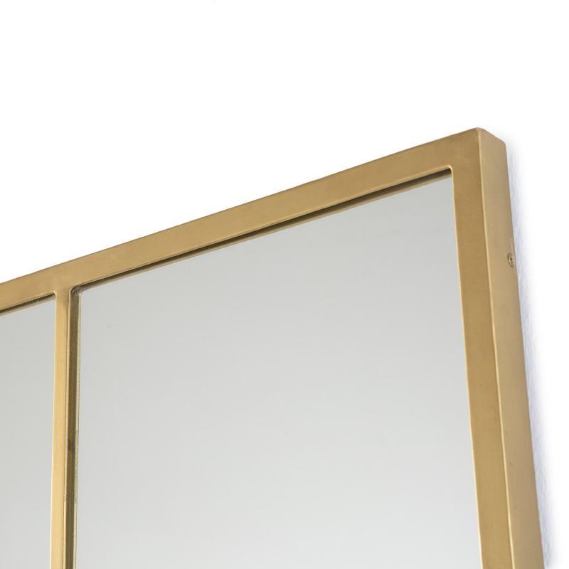 Miroir 100x3x150 Verre Métal Doré - image 52774