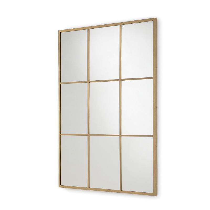 Specchio 102X3X147 Vetro Metallo Dorato