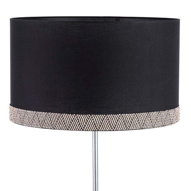 Lampshade 50X50X30 Cotton Black White