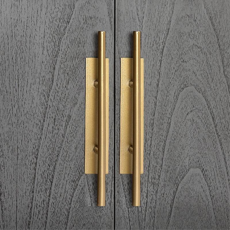 Anrichte 2 Türen 2 Schubladen 150X46X86 Holz Grau/Metall Golden - image 52813