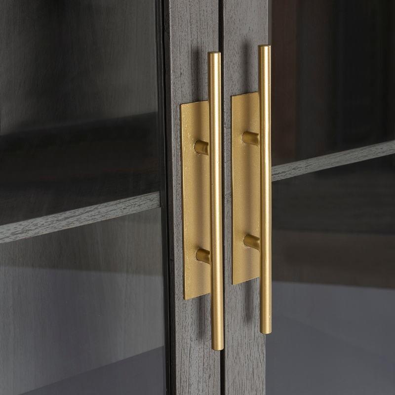 Showcase 85X40X195 Wood Grey Metal Golden - image 52847