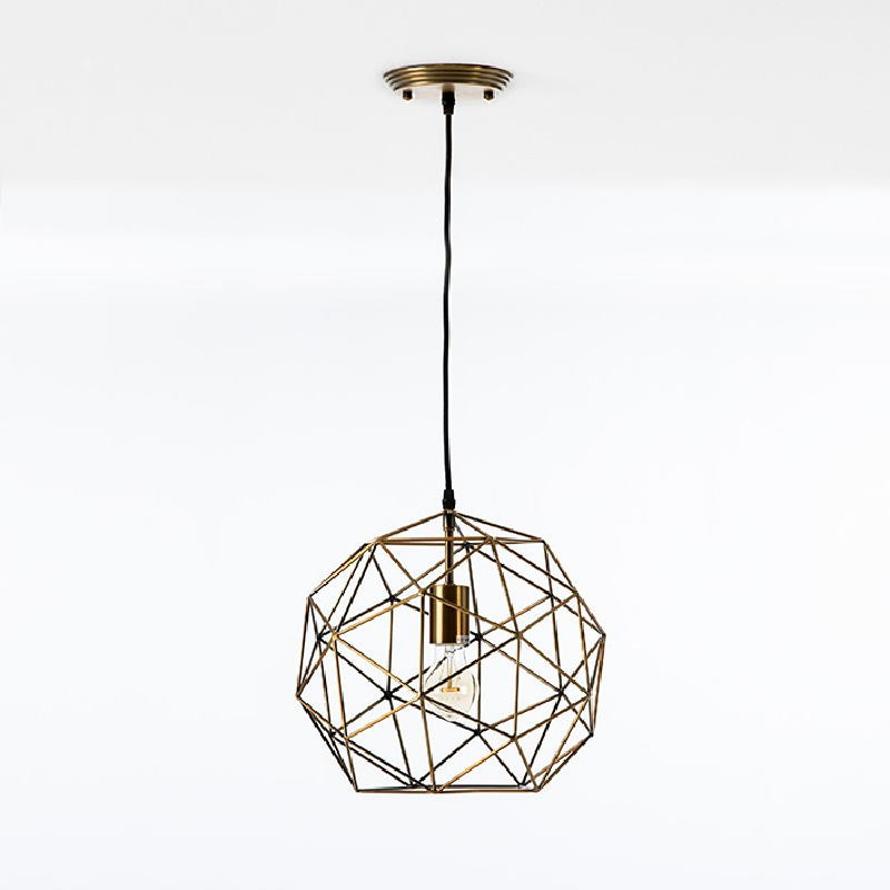Hanging Lamp With Lampshade 32X30 Metal Golden