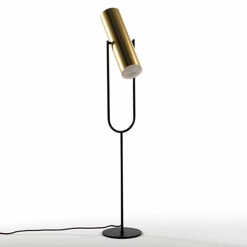 Lampada A Stelo Con Paralume 23X44X132 Metallo Oro Nero - image 52918
