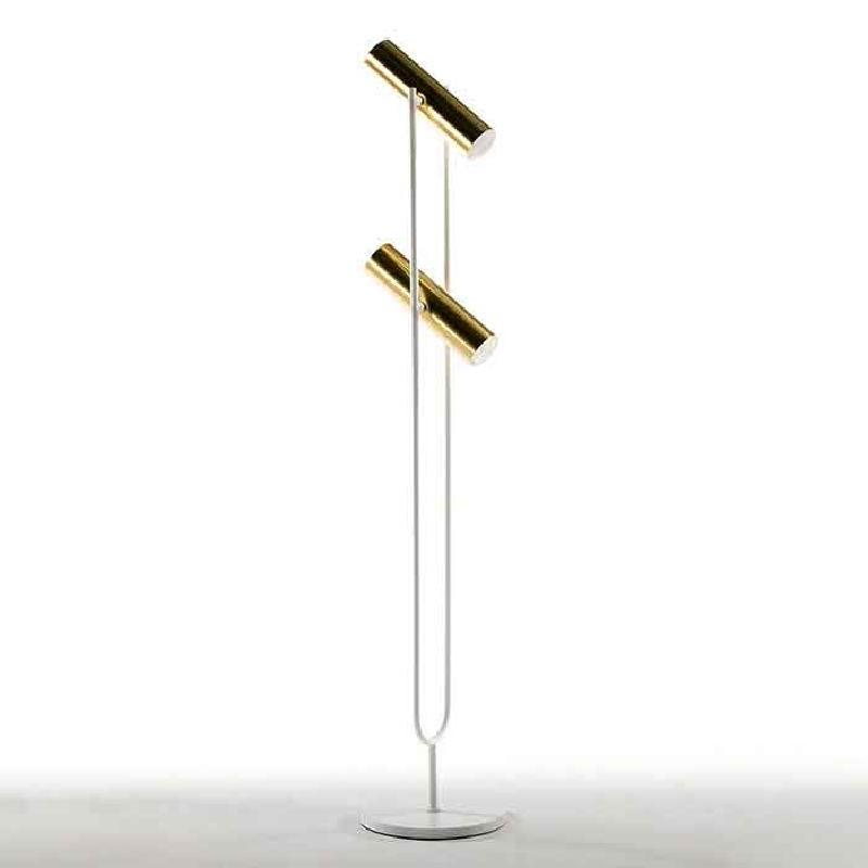 Stehleuchte Mit Display 22X22X120 Metall Gold/Weiß