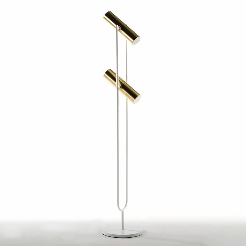 Stehleuchte Mit Display 22X22X120 Metall Gold/Weiß - image 52927