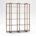 Shelf 160X40X188 Glass Smoked Metal Bronze
