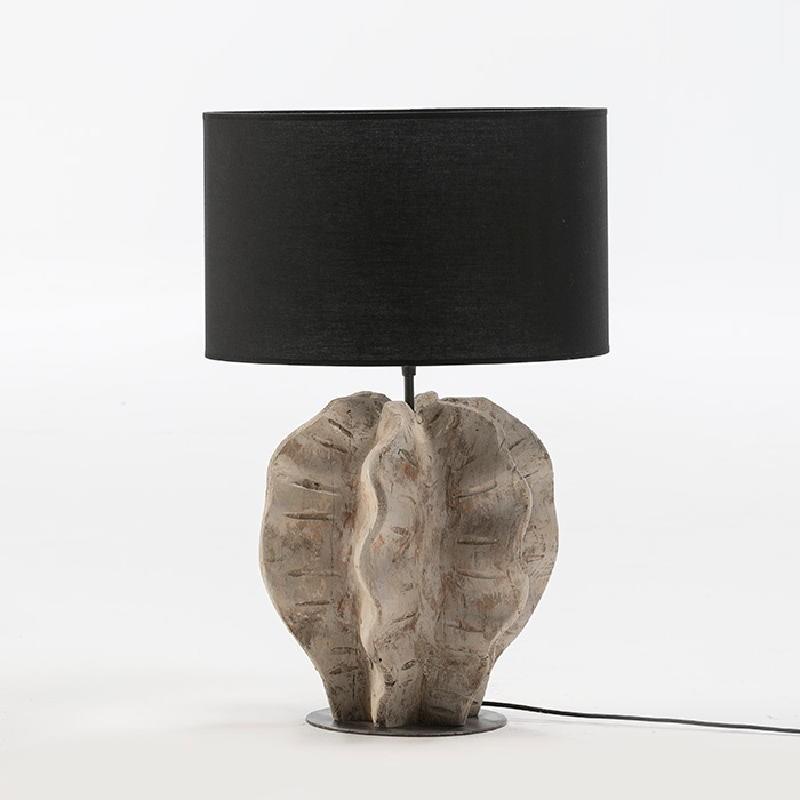 Lampe Auf Tisch Ohne Bildschirm 30X28X42 Metall / Holz Weißwäsche
