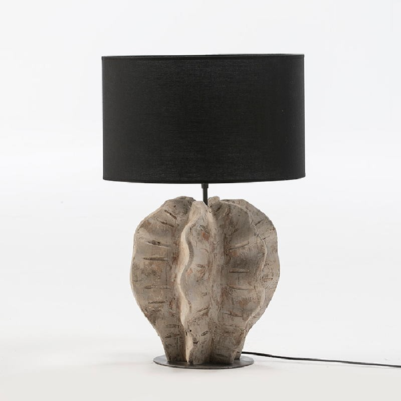 Table Lamp Without Lampshade 30X28X42 Metal Wood White Washed