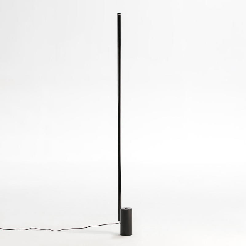 Standard Lamp Without Lampshade 12X10X186 Metal Black Led 25W - image 52943