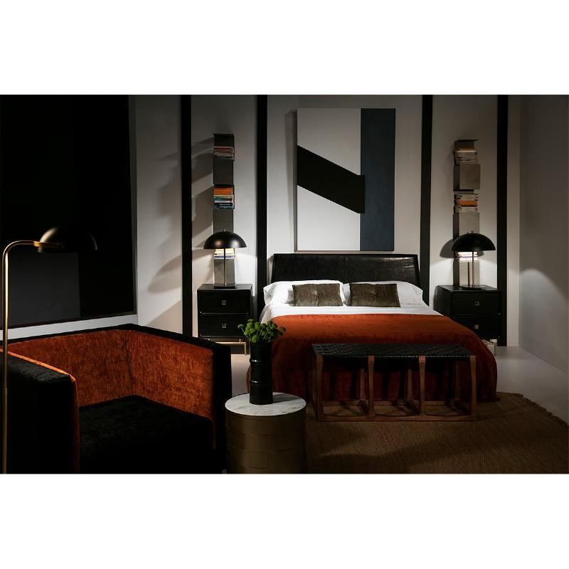 Lit 161x202x101 Bois Cuir synthétique Noir - image 52955