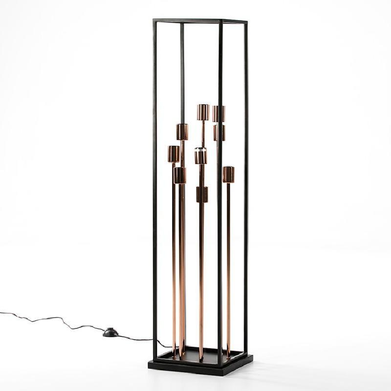 Standard Lamp 29X29X129 Metal Black Copper - image 52987