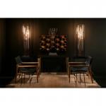 Standard Lamp 29X29X129 Metal Black Copper