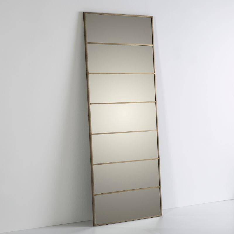 Mirror 76X3X195 Glass Metal Golden