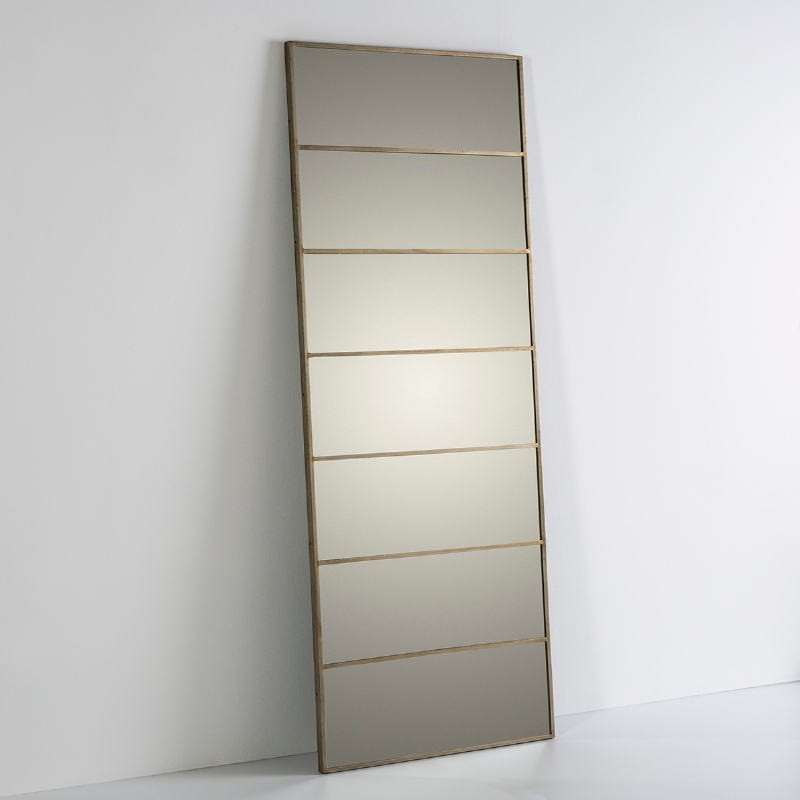 Spiegel 76X3X195 Glas / Metall Golden