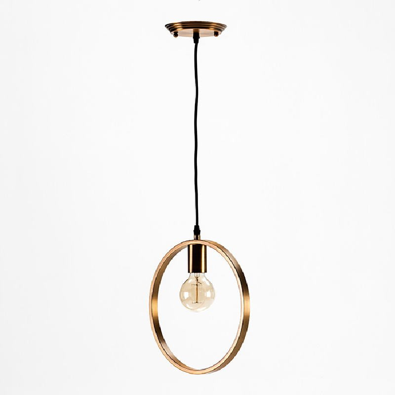Hanging Lamp Without Lampshade 30X4X31 Metal Golden