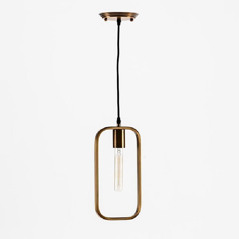 Lampe suspendue sans abat-jour 16x4x33 Métal Doré