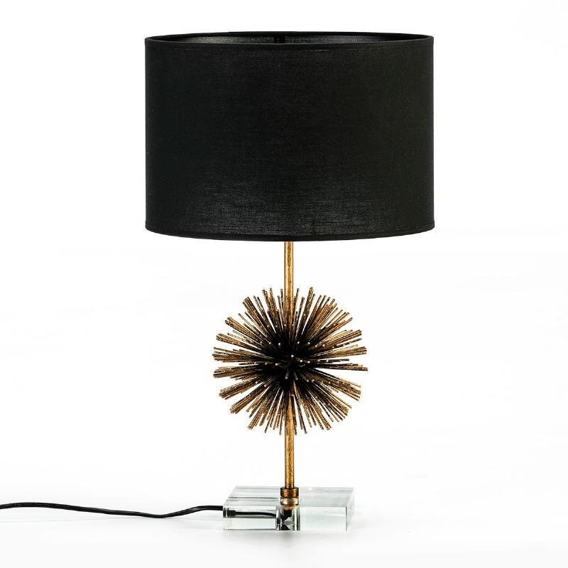 Lampe de Table sans abat-jour 16x16x36 Métal Doré Acrylique Transparent - image 53031