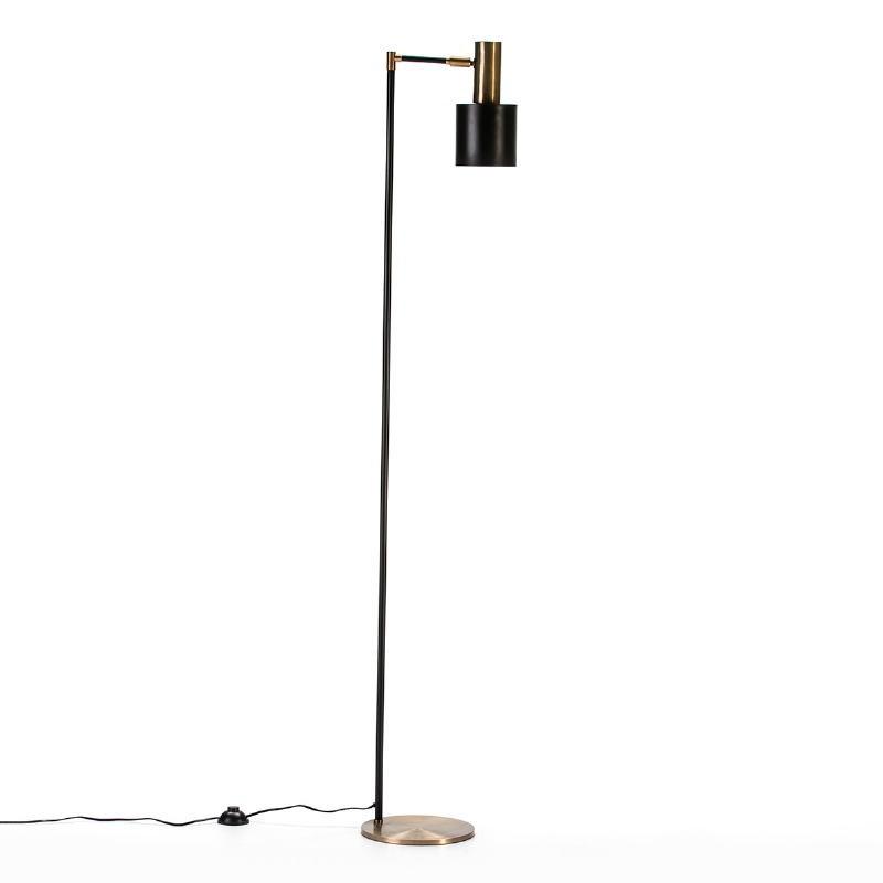 Lampada A Stelo 29X24X163 Metallo Dorato Nero