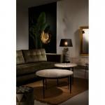 Lampe Auf Tisch Ohne Bildschirm 23X23X51 Keramik Golden/Weiß