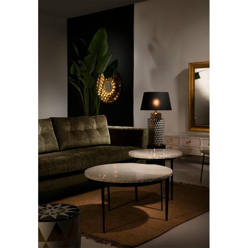 Lampe Auf Tisch Ohne Bildschirm 23X23X51 Keramik Golden/Weiß - image 53090