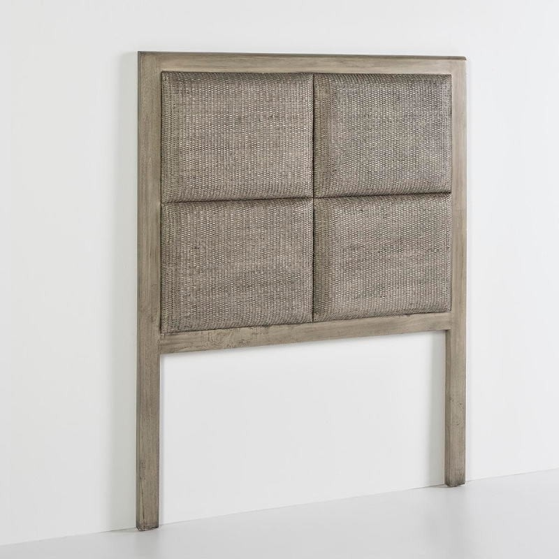 Headboard 110X9X137 Wood Grey Veiled