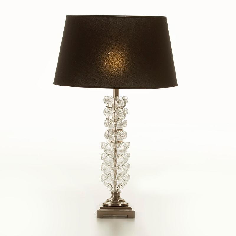 Lampe de Table sans abat-jour 15x15x58 Métal Verre Transparent