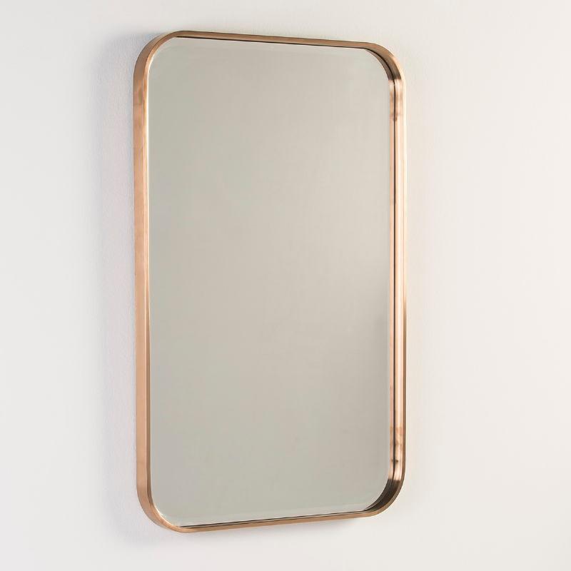 Spiegel 65X4X100 Glas Metall Bronze Farbe