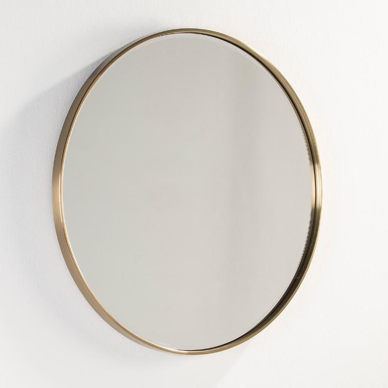 Miroir 90x4x90 Verre Métal Doré - image 53112