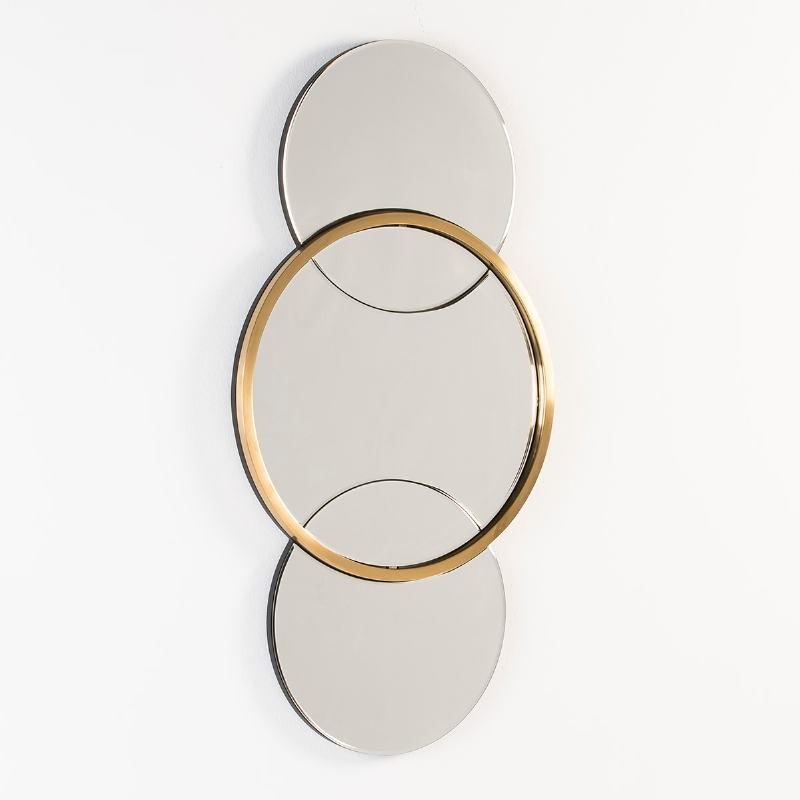 Specchio 60X4X117 Vetro Metallo Dorato