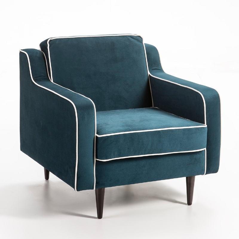 Fauteuil 86x91x88 tissu bleu Modèle 2 - image 53127