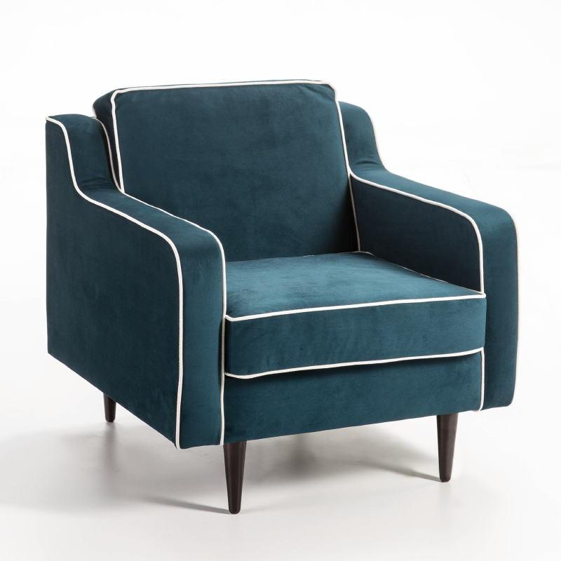 Fauteuil 86x91x88 tissu bleu Modèle 2 - image 53128