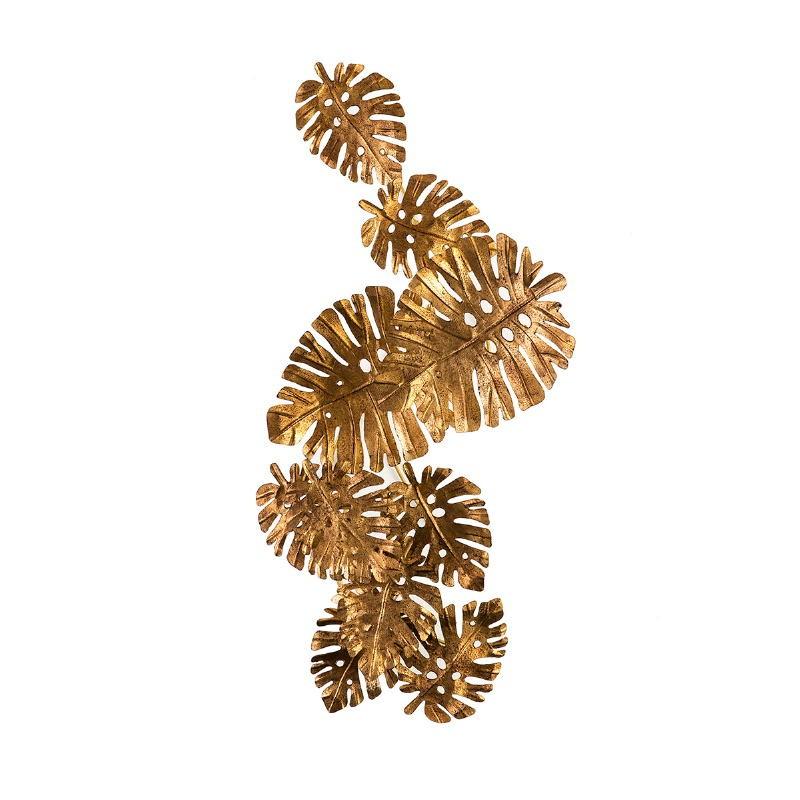 Skulptur 50X27X100 Metall Golden