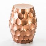 Hocker 46X46X55 Metall Farbe/Kupfer
