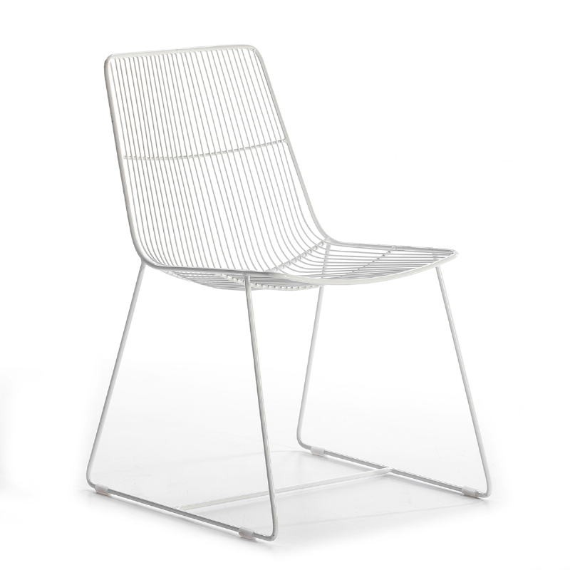 Chaise 55x59x83 Métal Blanc - image 53184